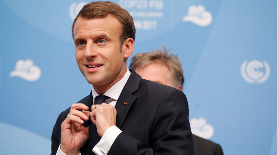 Macron auf der Klimakonferenz in Bonn