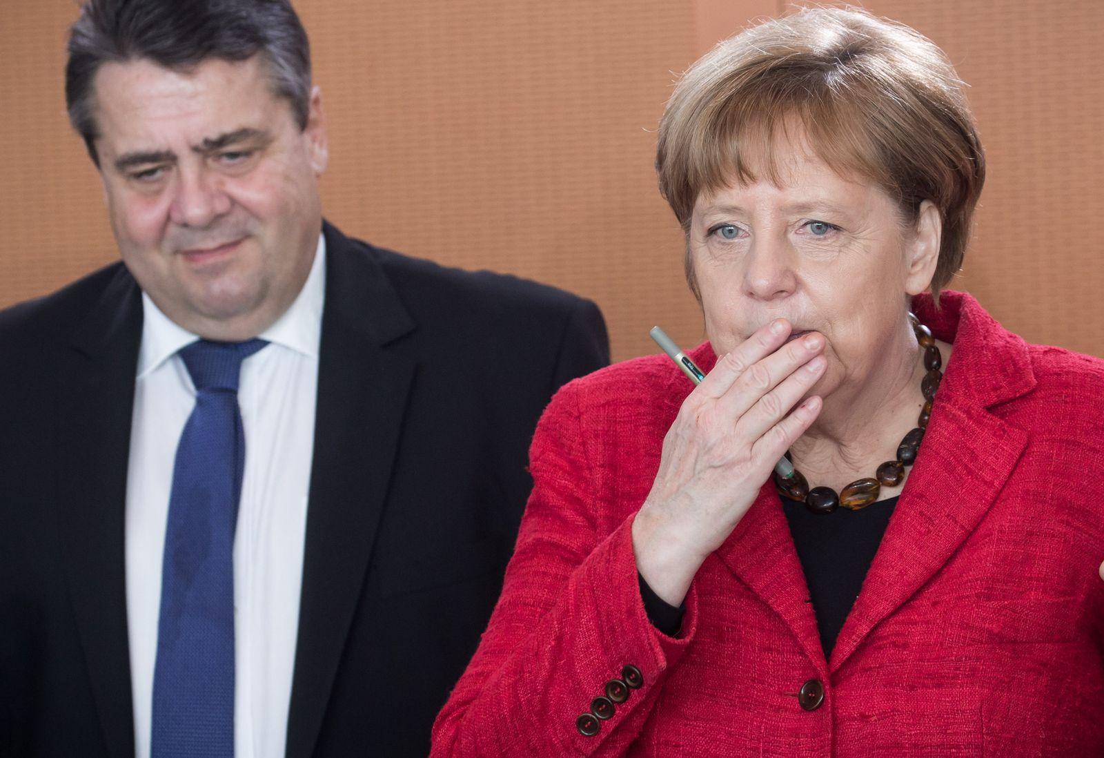 Kabinettssitzung Angela Merkel Sigmar Gabriel