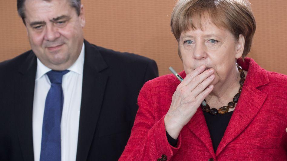 Vizekanzler Sigmar Gabriel, Kanzlerin Angela Merkel