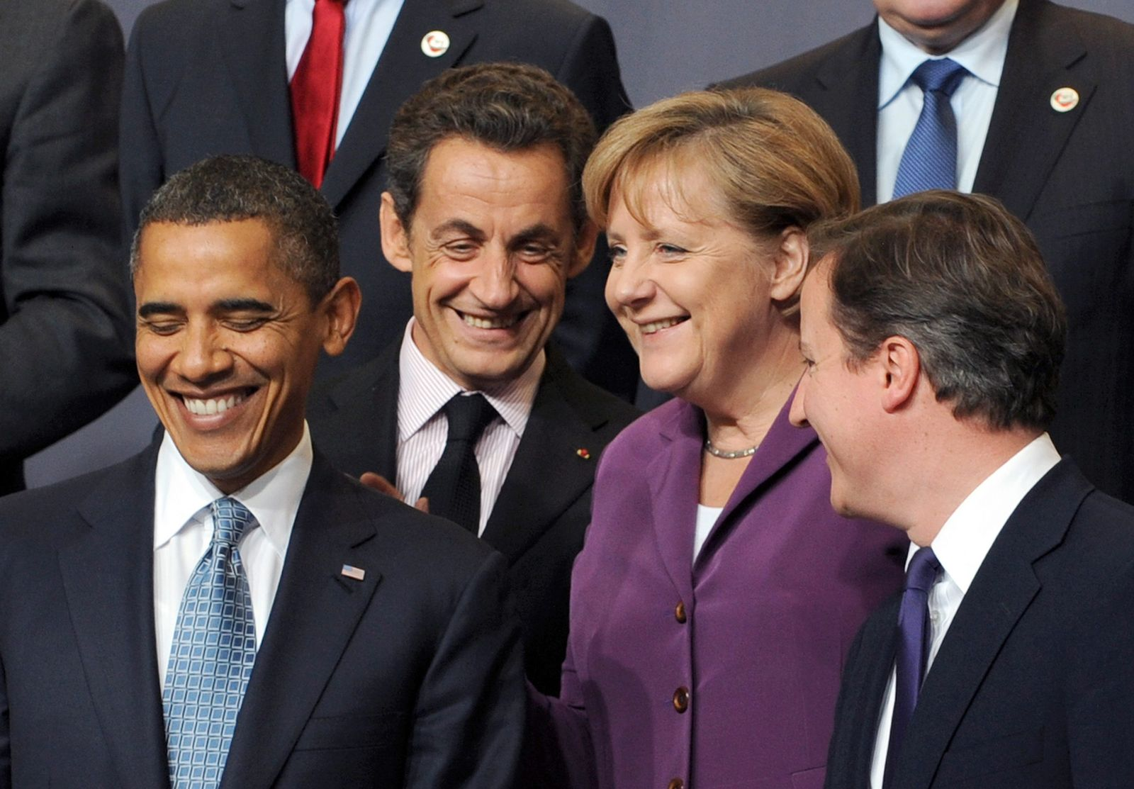 Obama Sarkozy Merkel Cameron