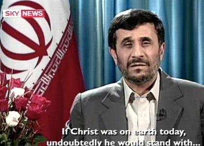 Irans Präsident Ahmadinedschad: Weihnachtsmann 2008 bei Channel 4