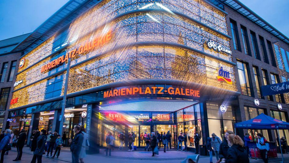 Einkaufszentrum in der Schweriner Innenstadt: Weniger Kunden in der Corona-Pandemie