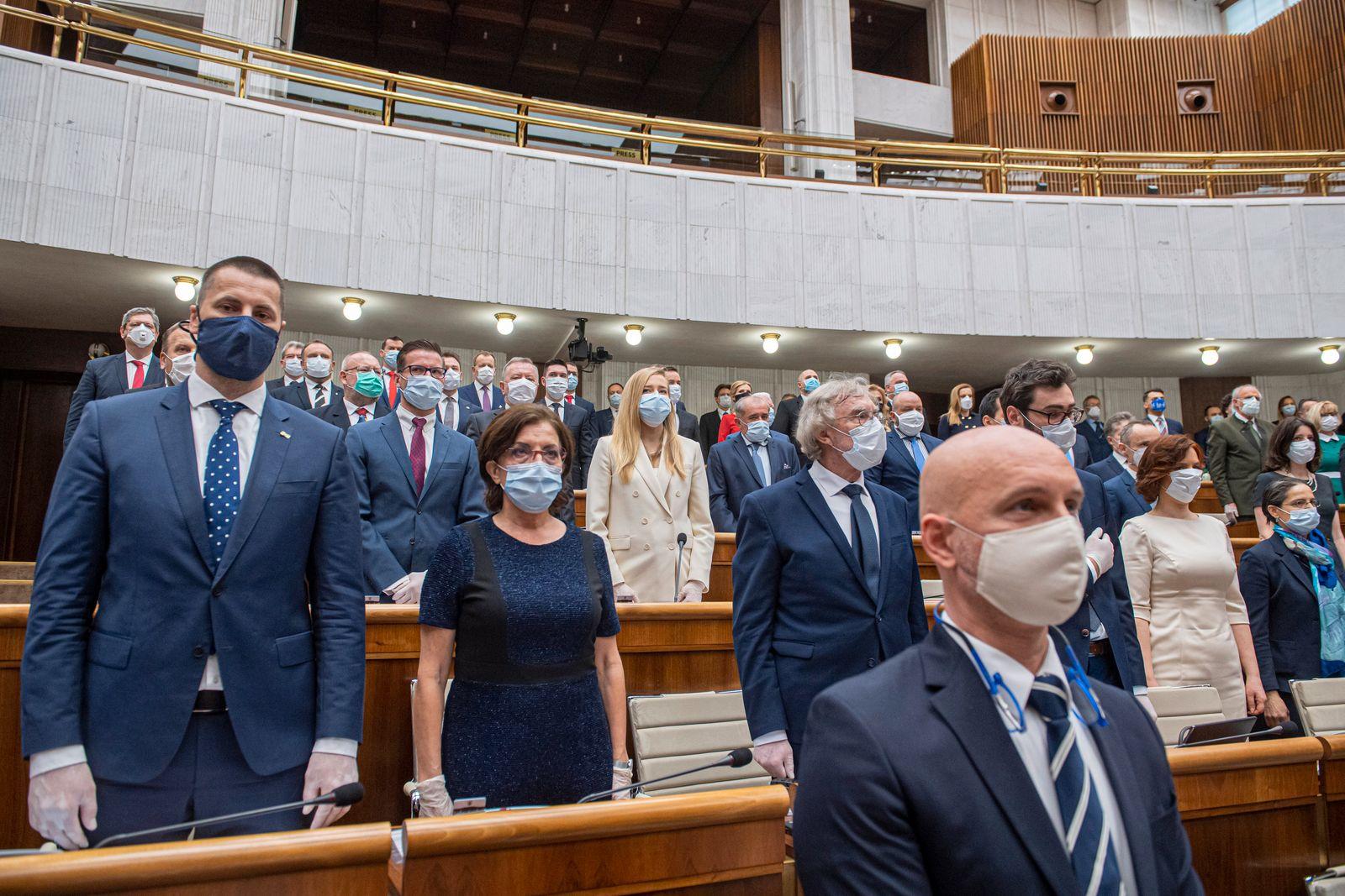 Virus Outbreak Slovakia New Government