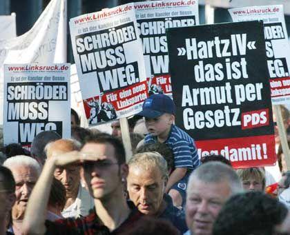 """Montagsdemo (am 9. August in in Magdeburg): """"Die Weber noch einmal unterdrücken"""""""