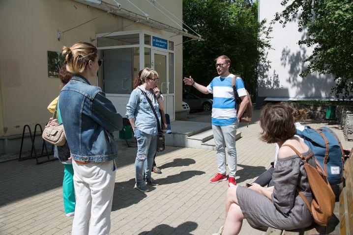 Dimitrij auf einer Stadtführung