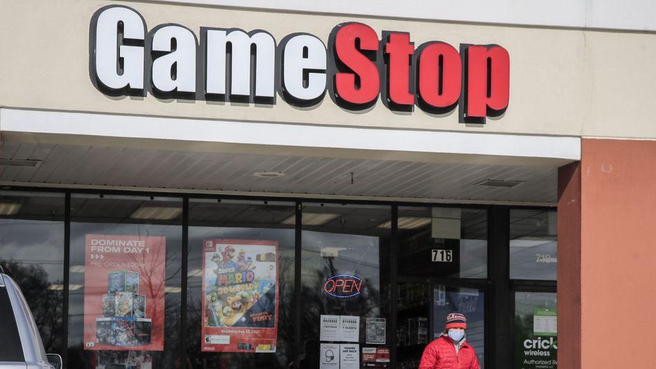 Im echten Leben kaum Verwechslungsgefahr: GameStop-Filiale im US-Bundesstaat Illinois