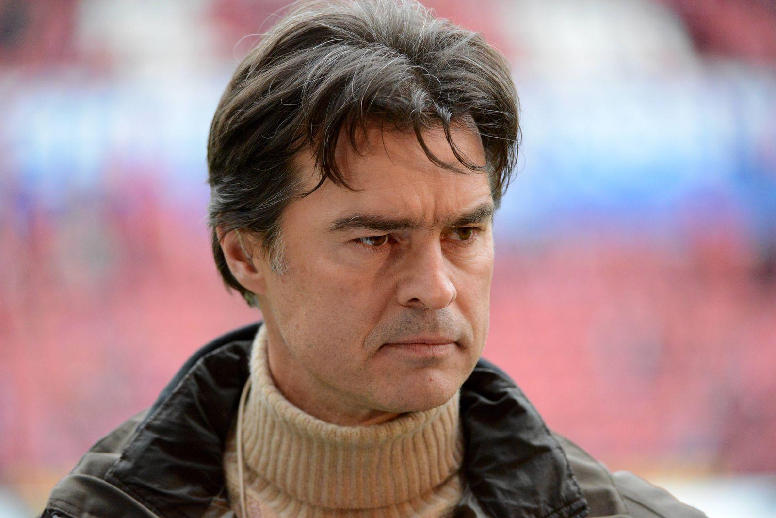22.3..2014 Mainz, Coface Arena 1. Bundesliga Herren, Saison 2013/2014 Einzelbild Thomas Berthold TV-Experte bei Liga to