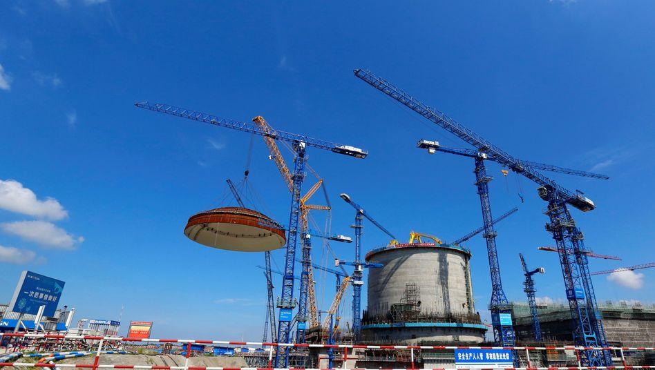 Bauarbeiten an Atomkraftwerk in China