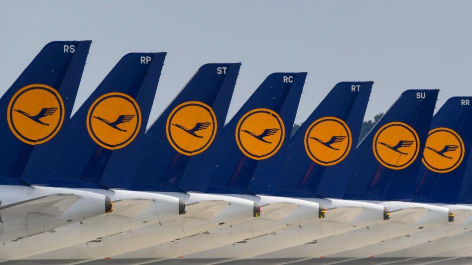 Lufthansa-Maschinen in Berin-Brandenburg