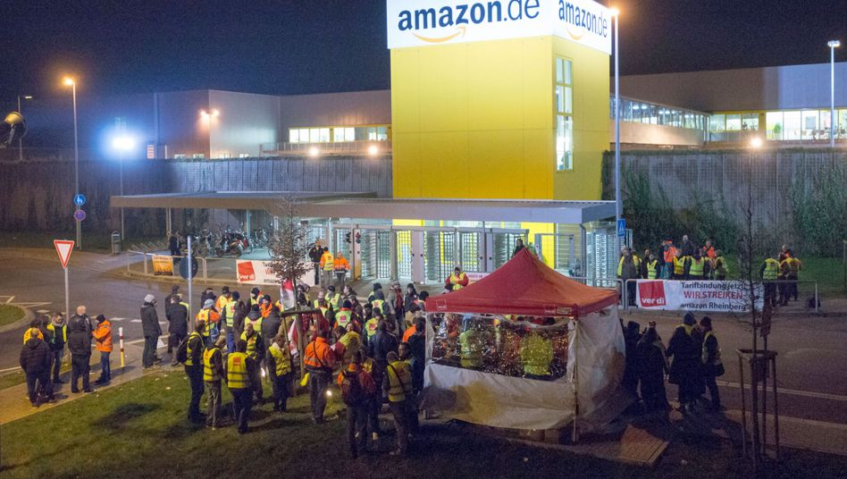 Amazon-Niederlassung in Rheinberg: Ver.di will mehr Mitarbeiter mobilisieren