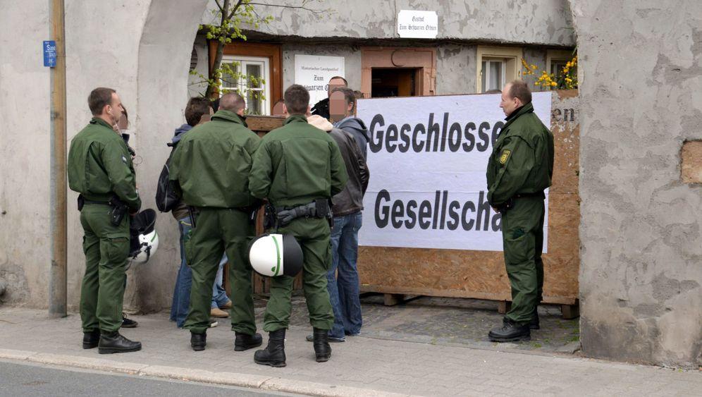 NPD-Parteitag: Sulzbach im Ausnahmezustand