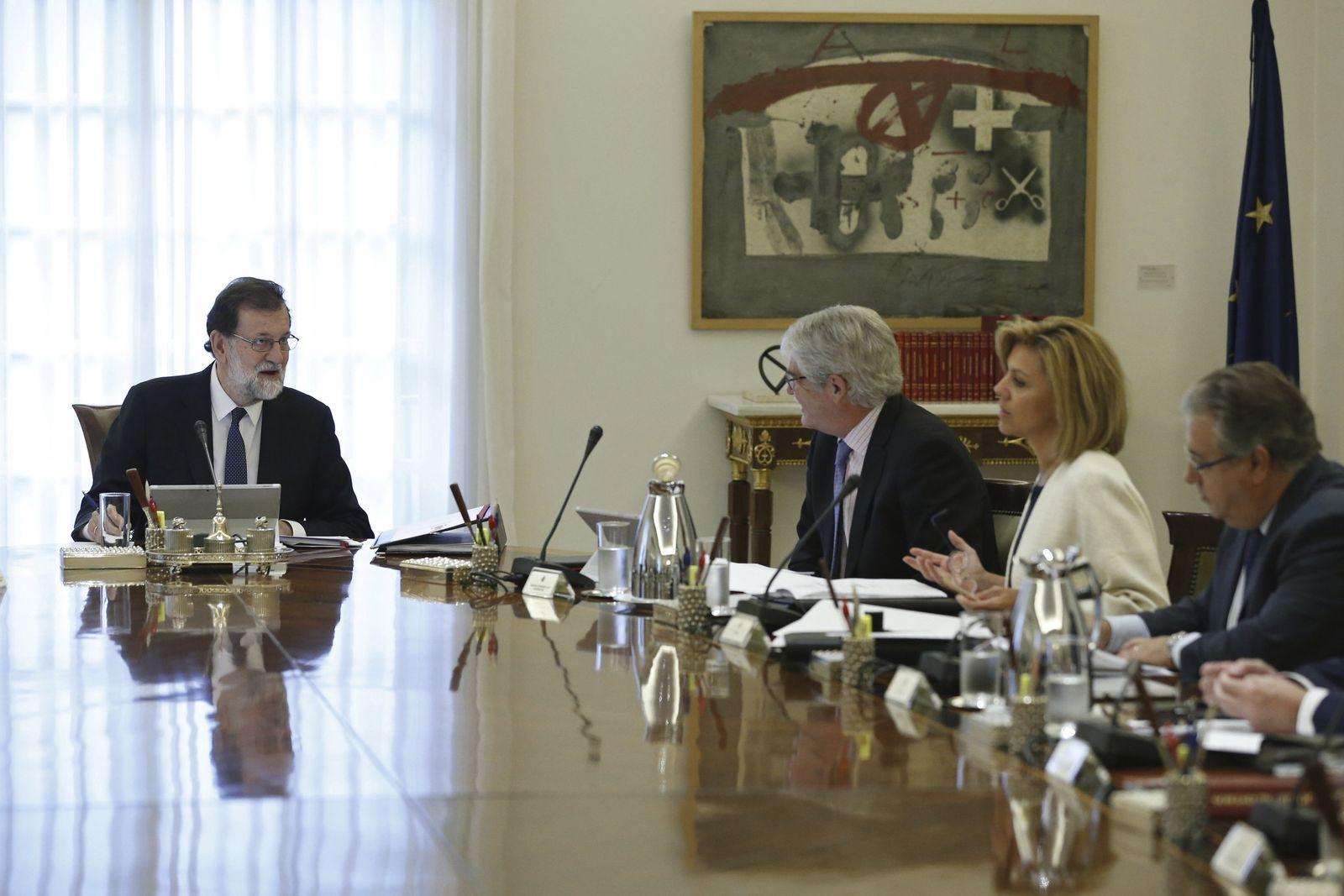 Spanien Kabinettssitzung Katalonien