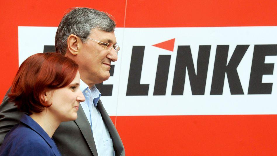 """Kipping (l.) und Riexinger: """"2013 wird ein Umverteilungskampf"""""""