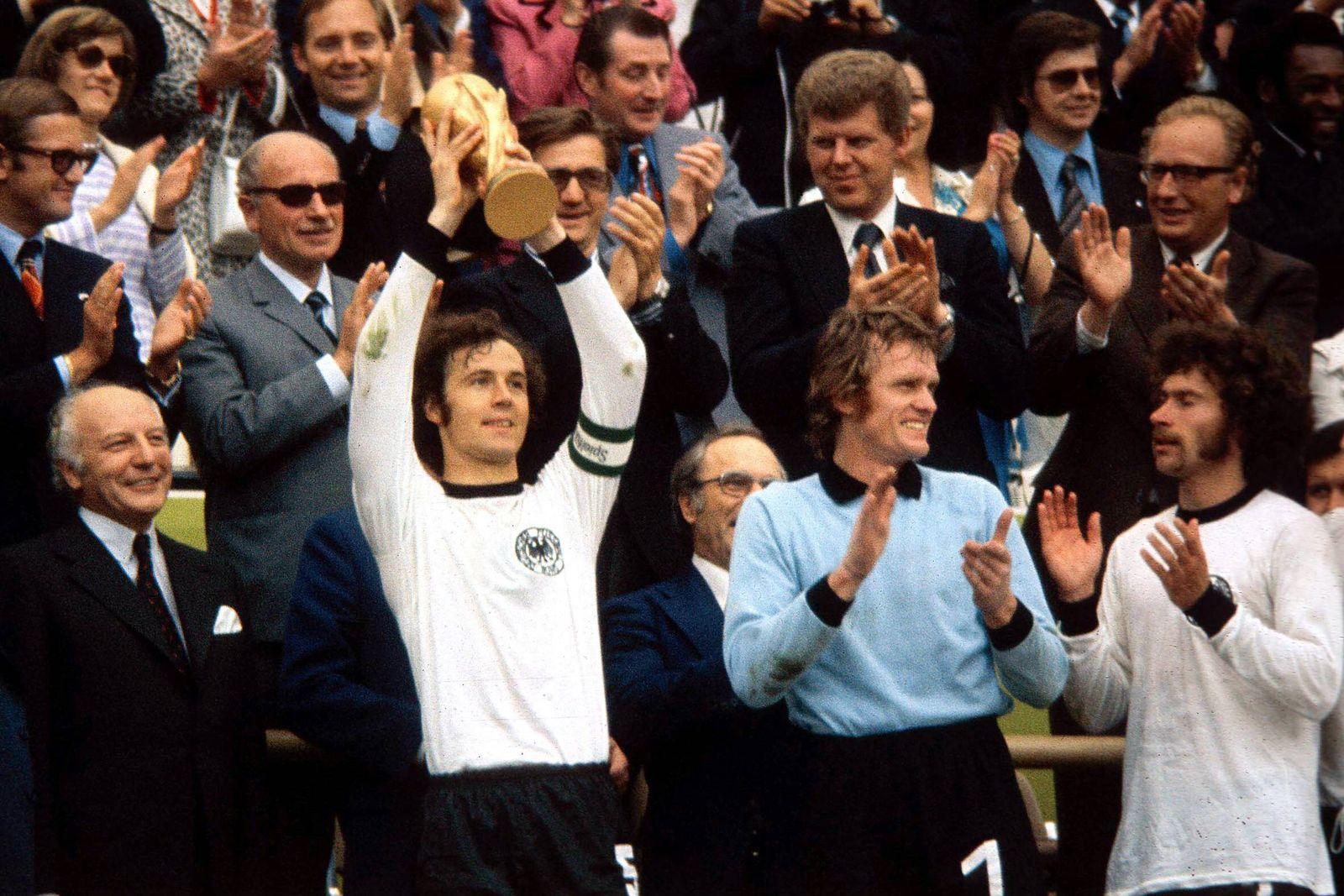 EINMALIGE VERWENDUNG NUR FÜR QUARTETT WM-Legenden/ Beckenbauer/ Dankeskarte