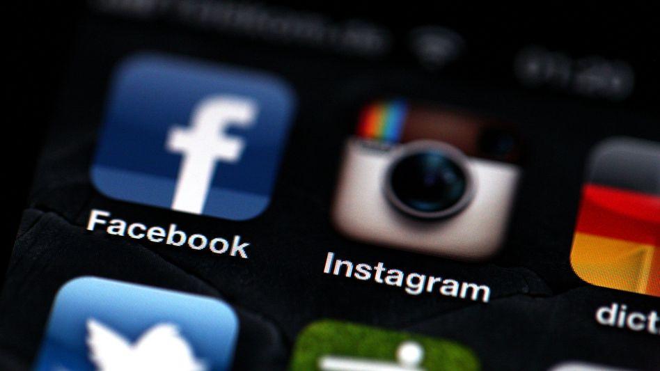 Die App-Logos von Facebook und Instagram: Wer sich einloggt, akzeptiert die Regeln