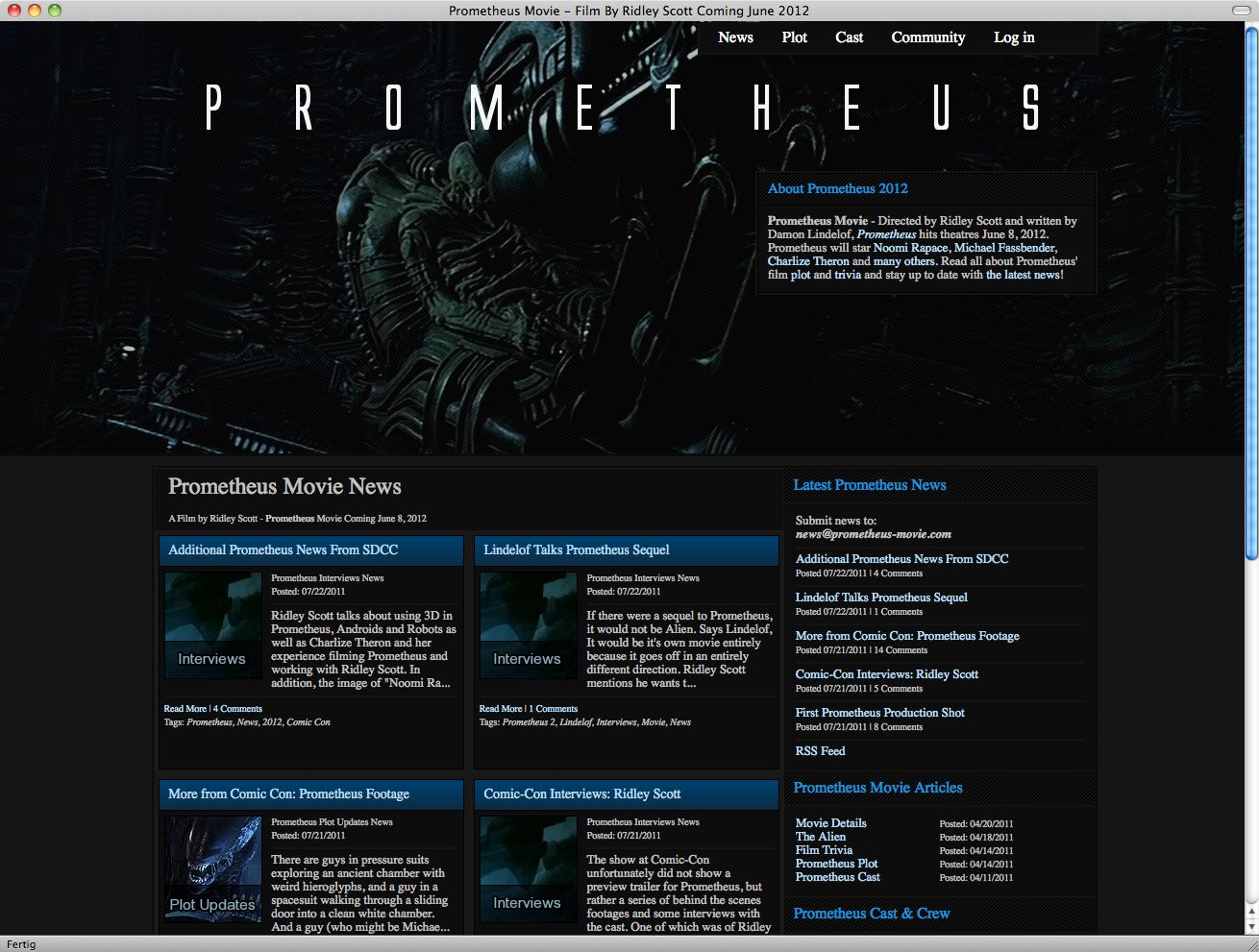 Screebshot/ Film/ Prometheus