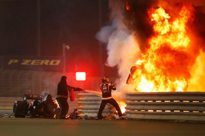 Die Szenen in Bahrain könnten auch aus einem Blockbuster stammen