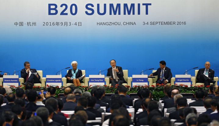 WTO-Chef Azevedo (l.) beim G20-Gipfel