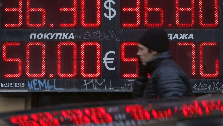Russia's currency has suffered as a result of the crisis in Ukraine.