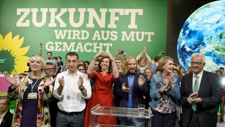 Grünen-Parteitag: Diskutieren und Transpirieren