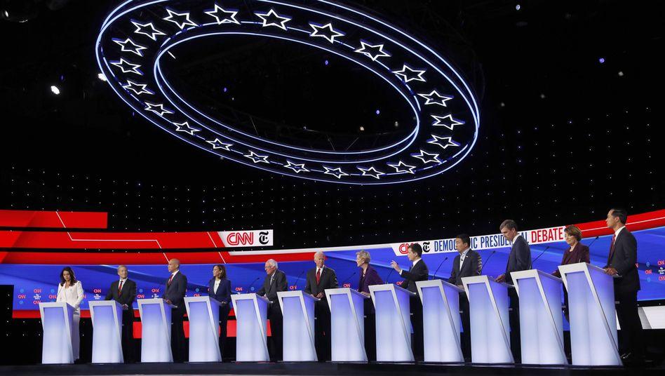 Vereint und doch zerstritten: Die Demokraten-Kandidaten