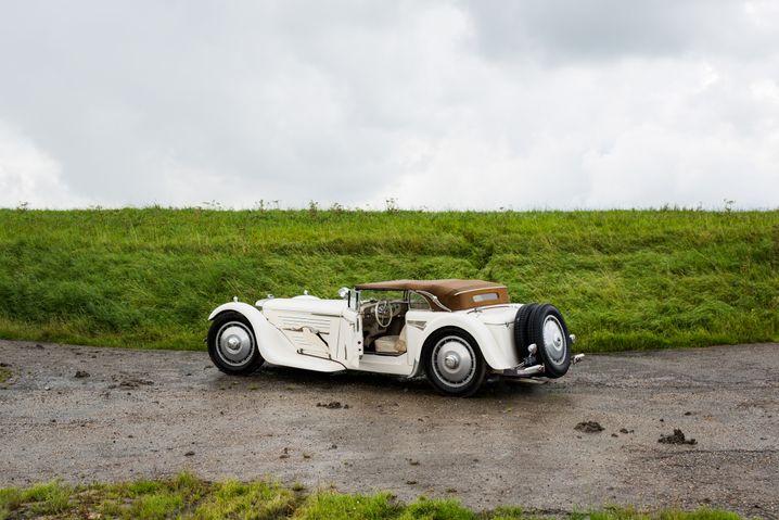Stolze Eigenkreation: Das selbstgebaute Auto von Bart de Vries