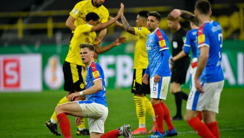 Holstein Kiel hatte Dortmund besonders in der ersten Hälfte nichts entgegenzusetzen