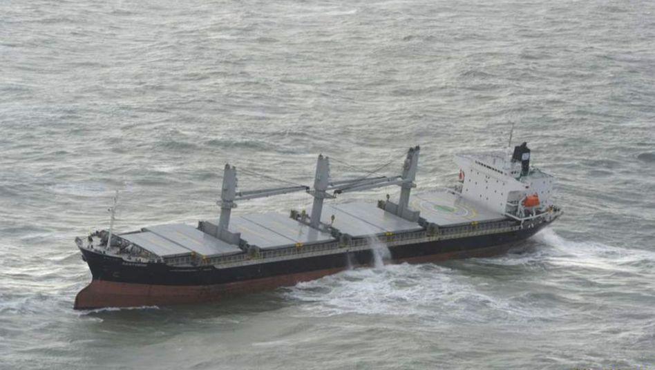 Das Frachtschiff trieb manövrierunfähig 120 Kilometer nordwestlich der InselHelgolandin der Deutschen Bucht