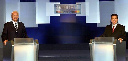 Kanzlerkandidaten-Duell (2002): Tricksen, tarnen, täuschen
