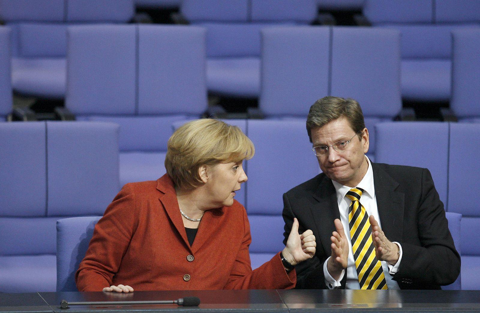 Merkel/ Westerwelle/ Bundestag