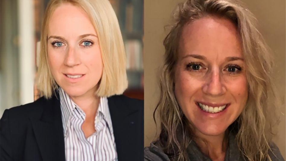 Lauren Griffiths: Links ihr altes Profilbild auf LinkedIn, rechts ihr neues Foto