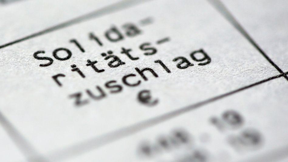 Soli auf dem Steuerbescheid: Der Solidarpakt II ist ausgelaufen