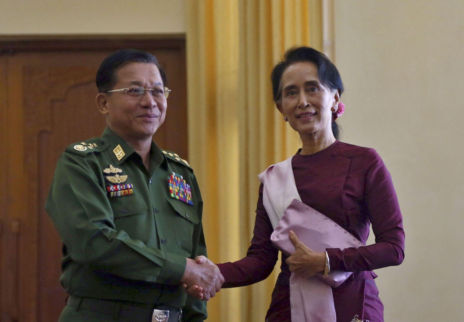 Min Aung Hlaing/ Aung San Suu Kyi/ Myanmar