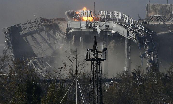 Flughafen in Donezk im Oktober 2014