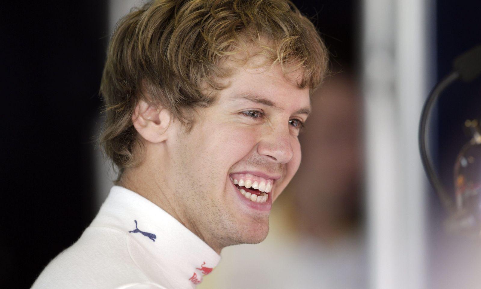 Formel 1/Sebastian Vettel lacht