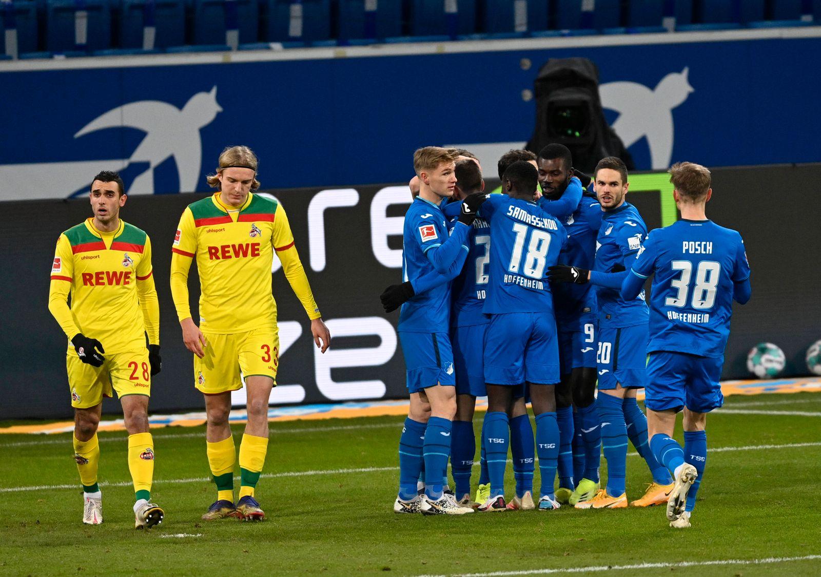 TOR zum 1:0 Andrej Kramaric TSG 1899 Hoffenheim ( 27) gegen Torwart Timo Horn 1. FC Köln Koeln ( 01) Strafstoß, Elfmeter