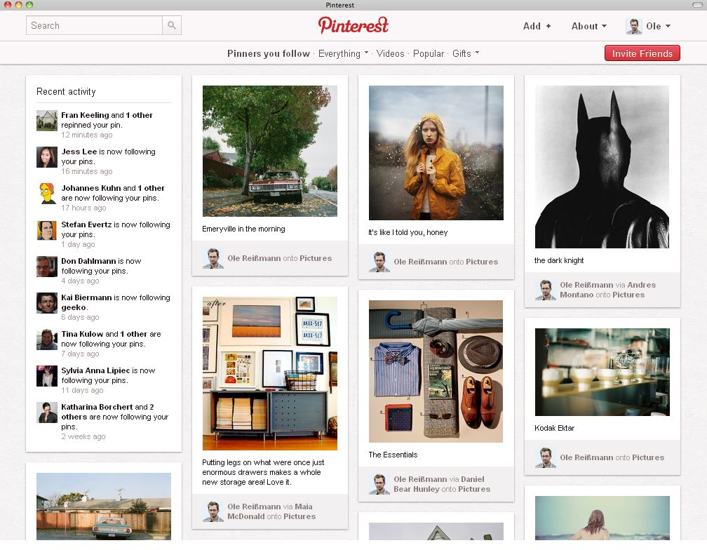 NUR ALS ZITAT Screenshot Pinterest