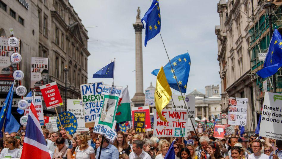 Demo der People's Vote Campaign vor wenigen Wochen in London