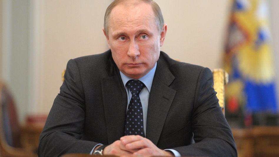 """Russlands Präsident Putin: Grund für die Proteste seien der """"Widerwille und die Unfähigkeit"""" der Kiewer Behörden"""