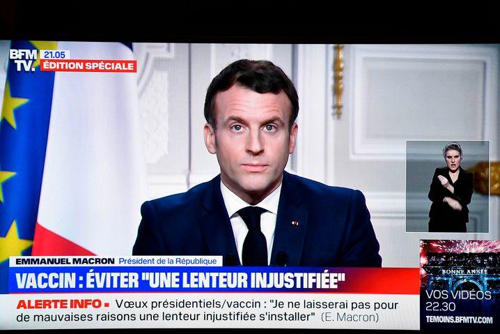 Frankreichs Präsident EmmanuelMacron