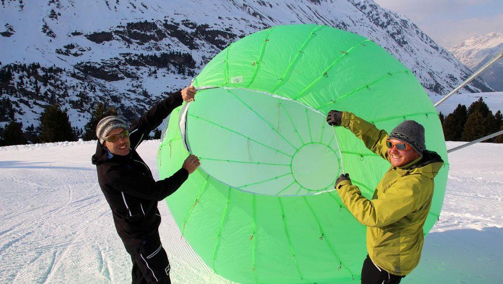Ötztaler Alpen: Kunstschnee aus der Wolkenkammer