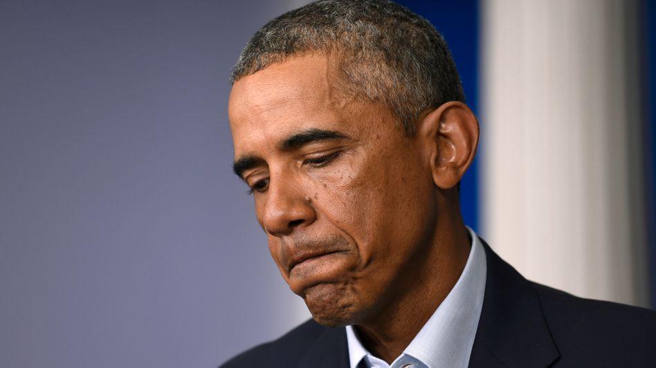 Präsident Obama: Keine Lust auf eisiges Wasser