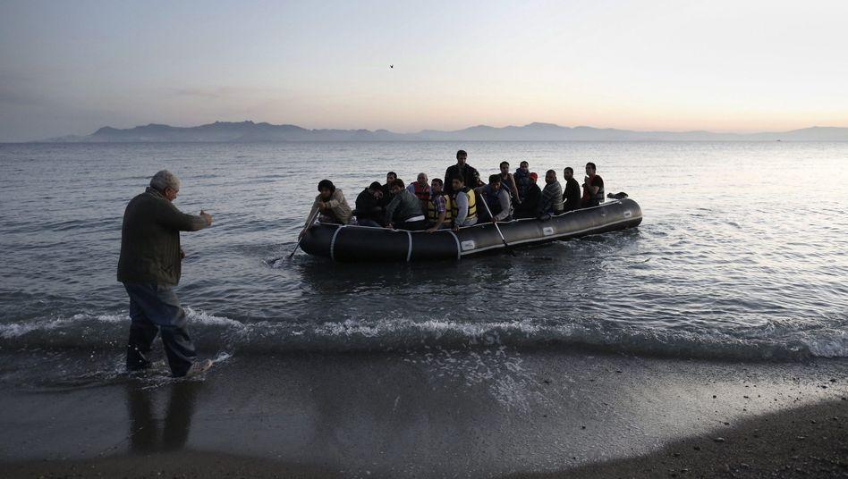 Flüchtlinge an der Küste von Kos (Archivfoto)