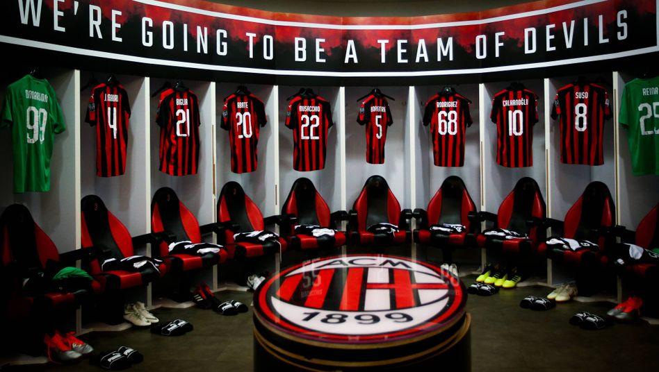 Die AC Mailand wurde in der vergangenen Saison Fünfte der Serie A