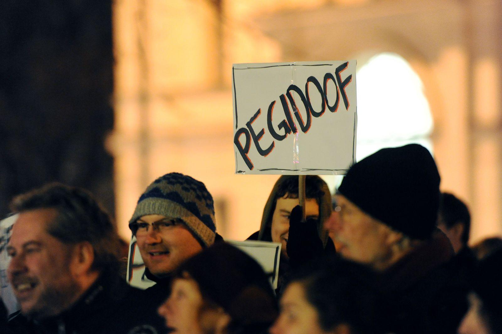 Demonstration gegen Pegida in München