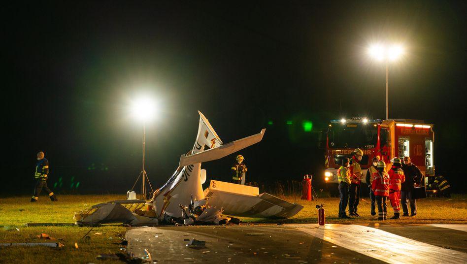 Unfallstelle auf einem Flugplatz in Kulmbach