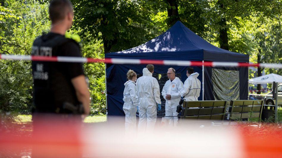 Mord in Berlin: Blick auf den Tatort am 23. August 2019