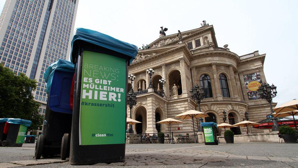Schauplatz der Krawalle: Der Opernplatz