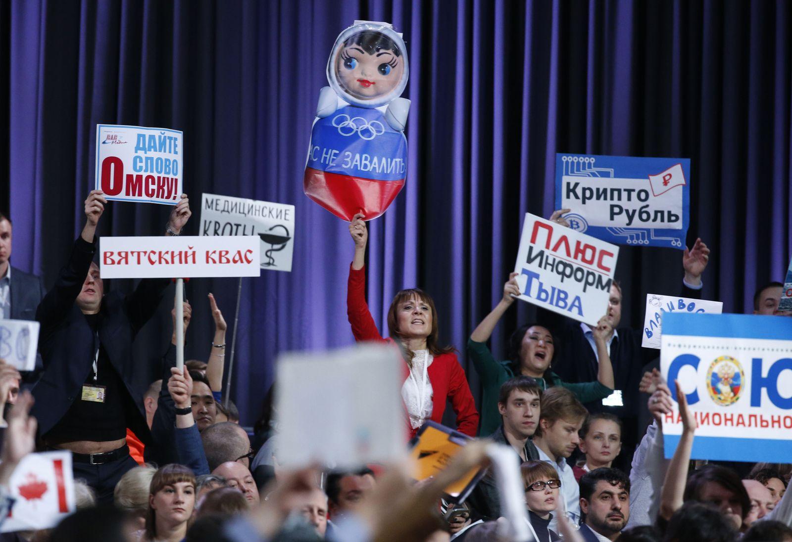 Vladimir Putin/ Jahrespressekonferenz
