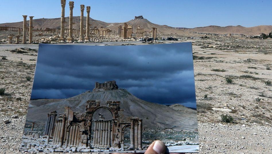 Der Triumphbogen von Palmyra wurde 2015 zerstört